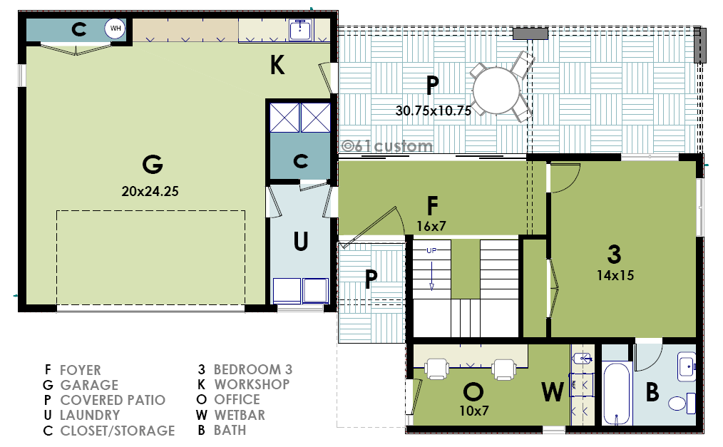 ultra modern live work house plan 61custom