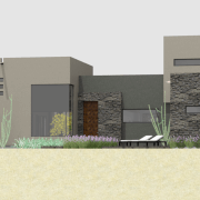 luxury modern courtyard house plan | 61custom