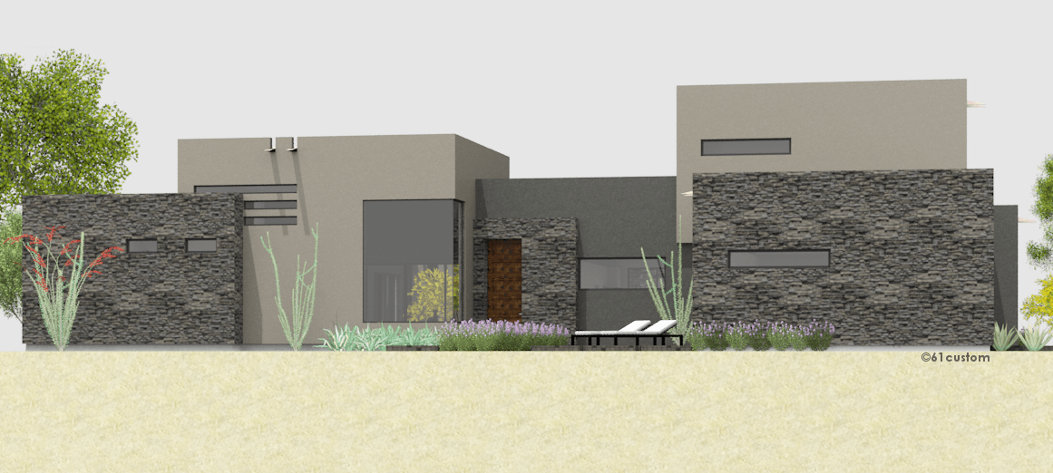 Luxury modern courtyard house plan 61custom for Courtyard in front of house
