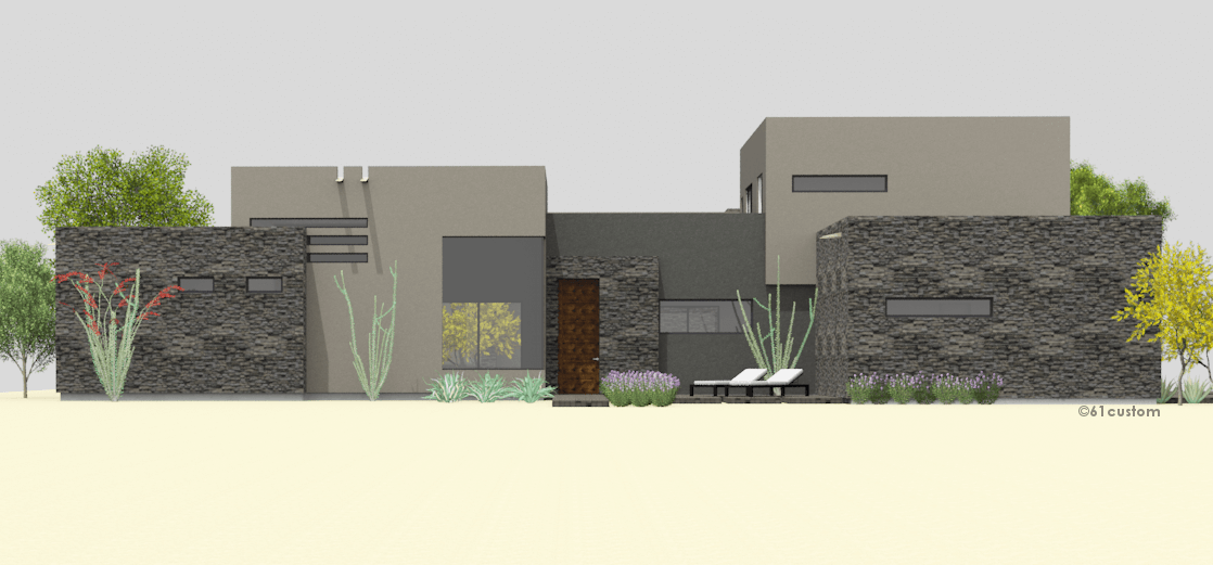 courtyard60 Luxury Modern Courtyard House Plan