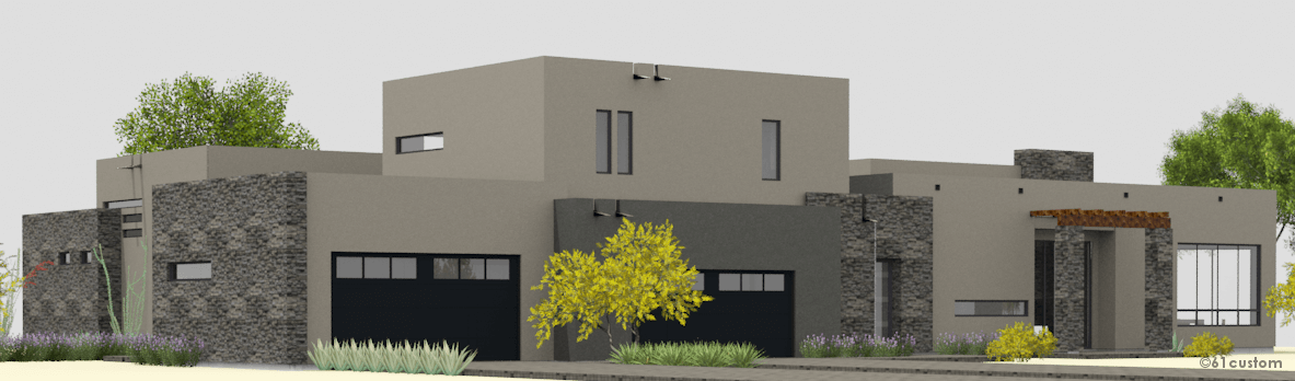 courtyard60 Luxury Modern Courtyard House Plan