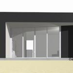 minimalist house plan - back