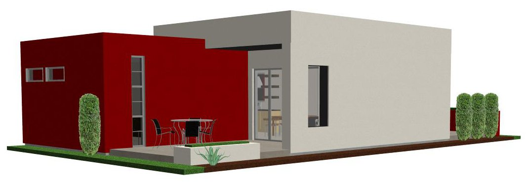 casita back - Small Modern House Plans