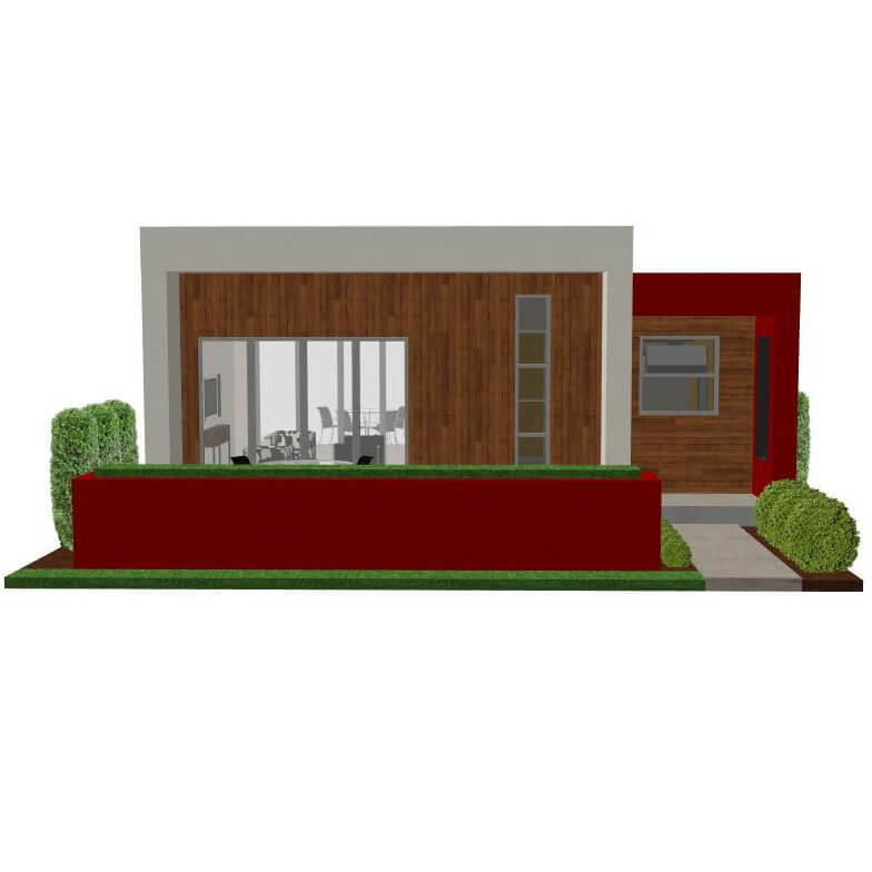 Contemporary casita plan small modern house plan for Small modern house floor plans
