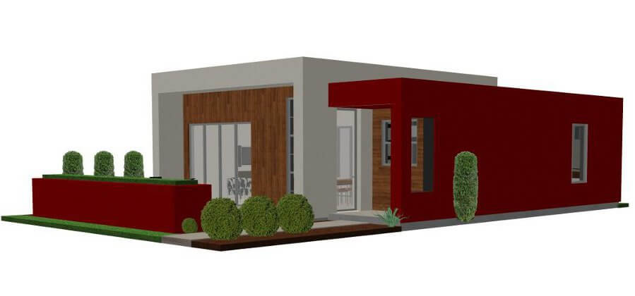Contemporary Casita Plan Small Modern House Plan