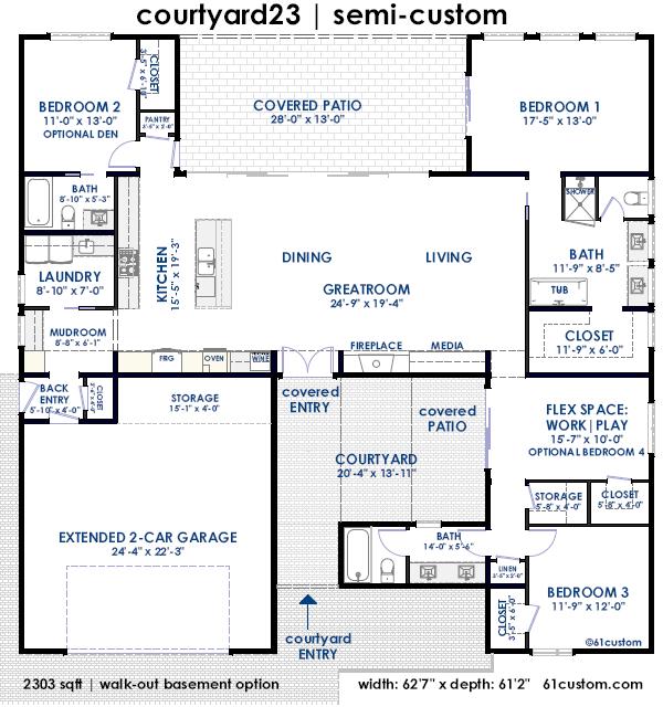 courtyard23 | courtyard home floorplan