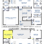 courtyard23   semi-custom contemporary home plan