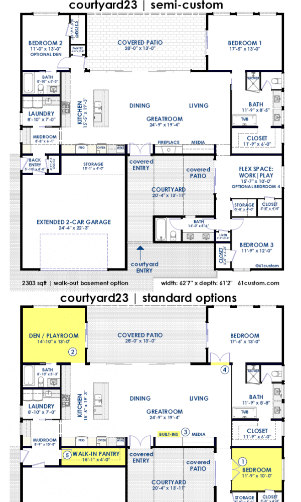 courtyard23 | semi-custom contemporary home plan