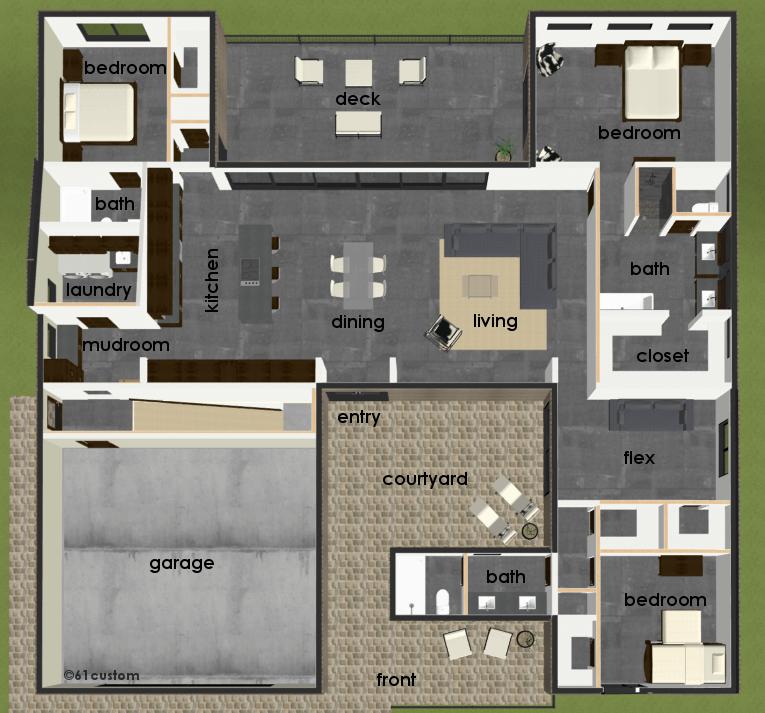 SemiCustom Home Plan  61custom  Contemporary amp; Modern House Plans