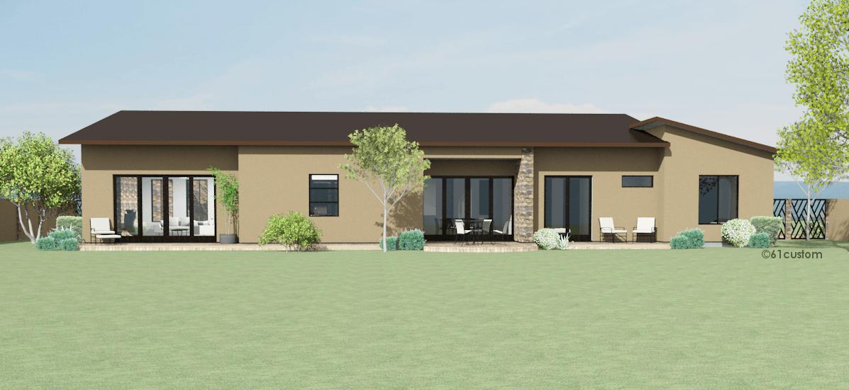 Contemporary Side Courtyard House Plan 61custom