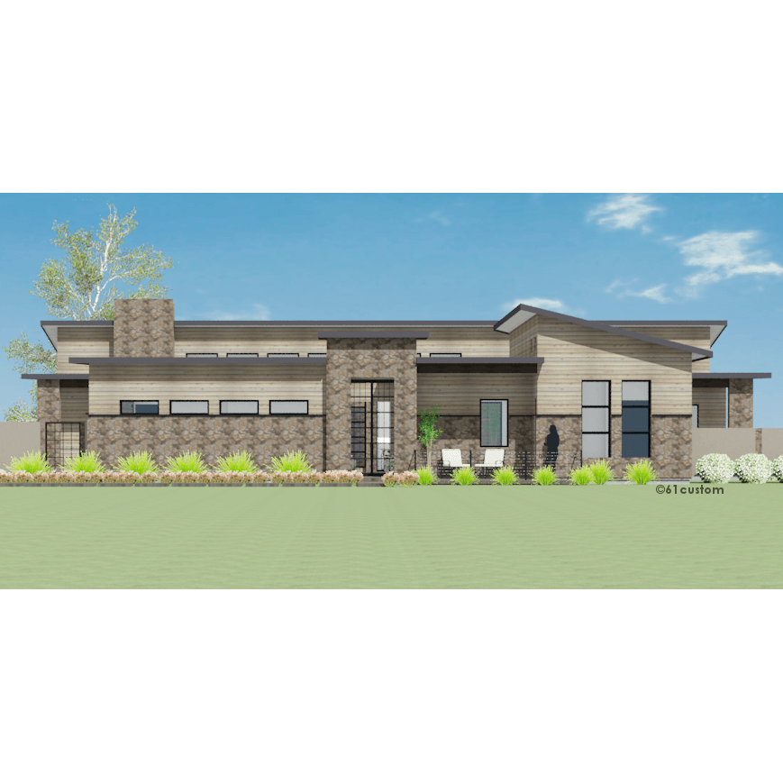 Modern courtyard house plan New custom home plans