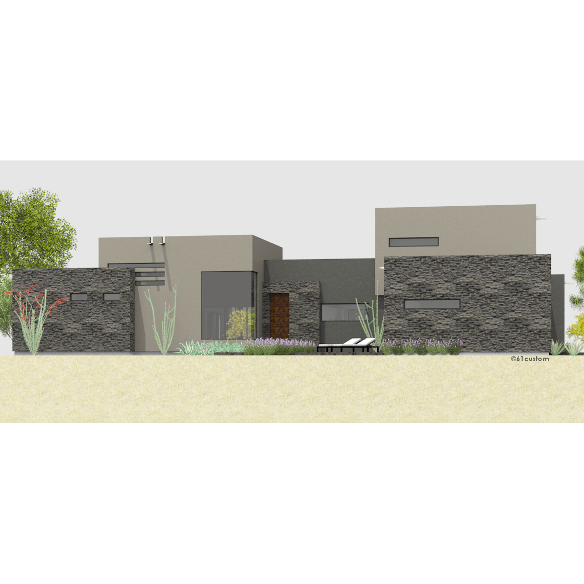 Courtyard60 luxury modern courtyard house plan for Contemporary courtyard houses