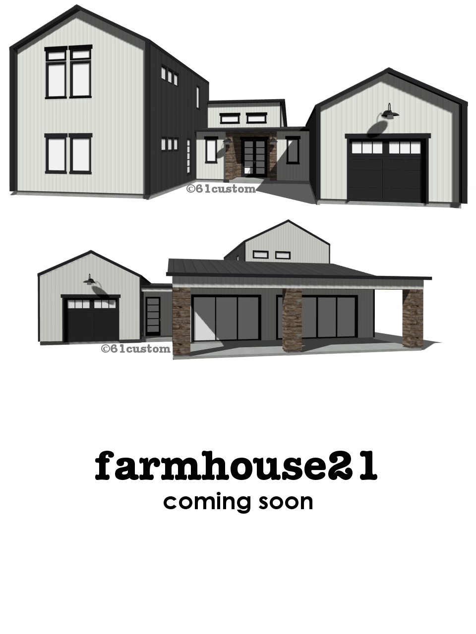 Farmhouse21 modern house plan 61custom contemporary for Modern farmhouse floor plans