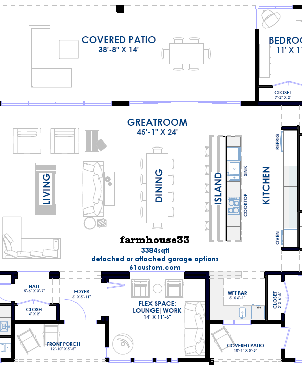 farmhouse33 floorplan 61customcom