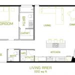 Minimalist Modern Floorplan