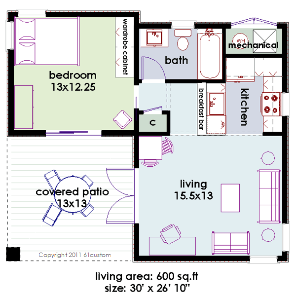 Small minimalist modern house plan for Minimalist floor plans