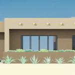 small contemporary adobe house plan | 61custom