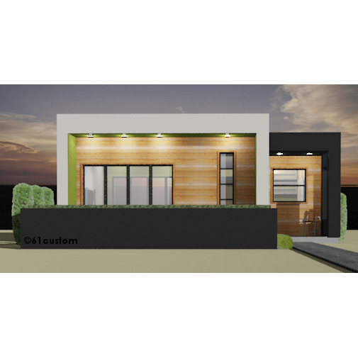 modern casita floorplan 61custom small modern house plan front - Small Modern House Plans