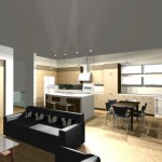 kitchen | modern live-work house plan | 61custom
