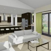 kitchen option with mega-island