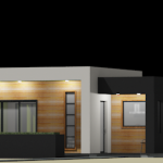 modern houseplan - front