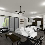 modern houseplan-greatroom