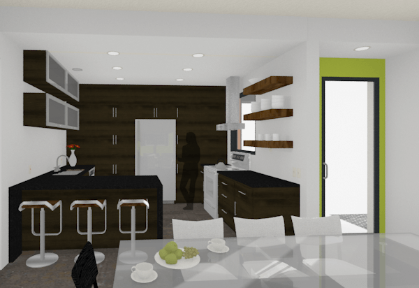 modern houseplan kitchen