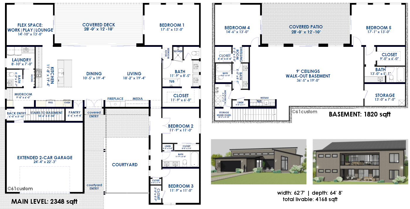 Semi custom home plans 61custom modern home plans for Custom home plans with photos