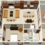 spanish contemporary floorplan