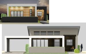 semi-custom home plans, exterior changes