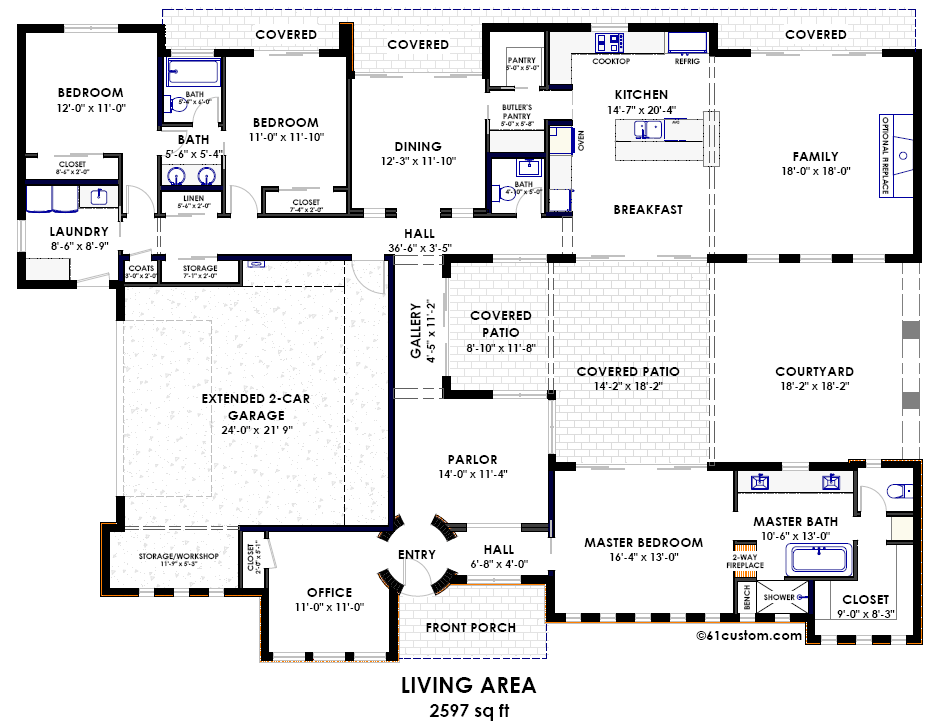 pics photos home plans house plan courtyard home plan