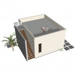 Modern Studio Guest House Plan   61custom