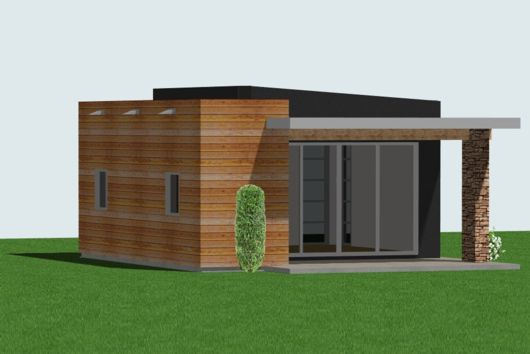 studio400 Tiny Guest House Plan 61custom Contemporary Modern