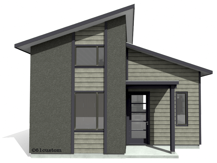 Modern Tiny House Plans floorplan studio500 modern tiny house plan 61custom Studio500 Modern Tiny House Plan 61custom