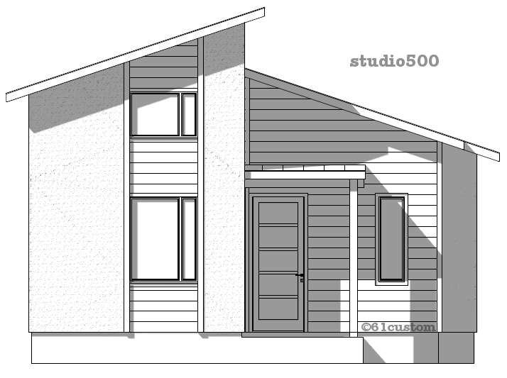 Modern Tiny House Plan Custom - Tiny home plan