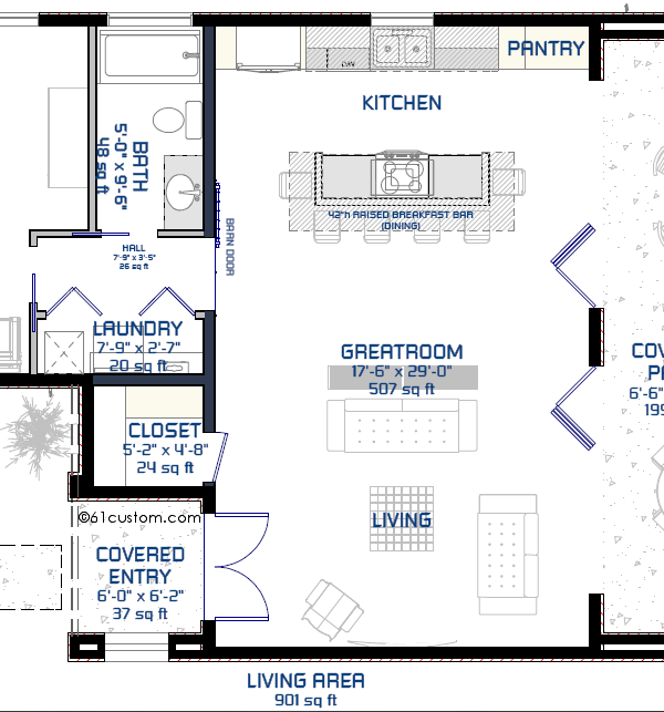 small modern floorplan