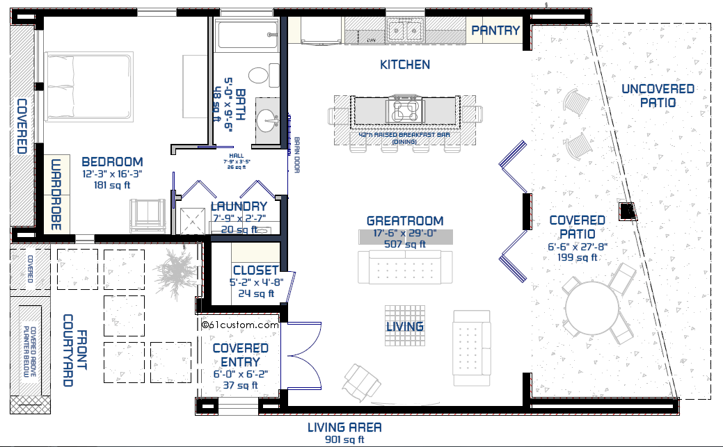 28+ [ Small Courtyard House Plans ] | House Plans With Courtyards ...