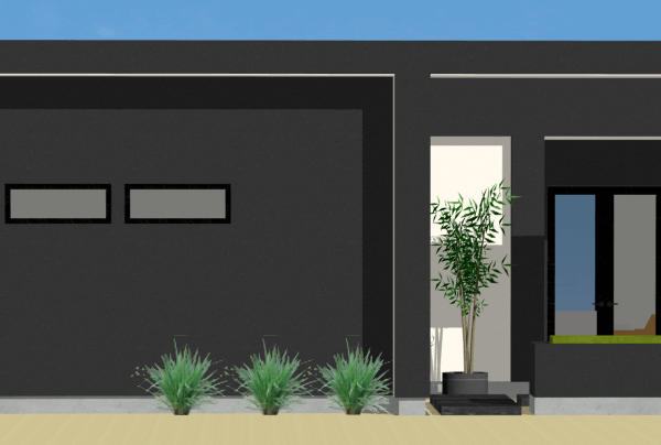 small courtyard houseplan