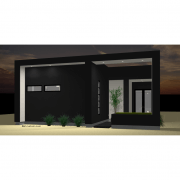 studio900 front courtyard houseplan