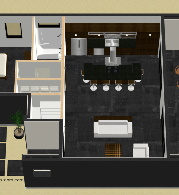 small courtyard floorplan