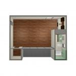 Modern Studio Guest House FloorPlan   61custom