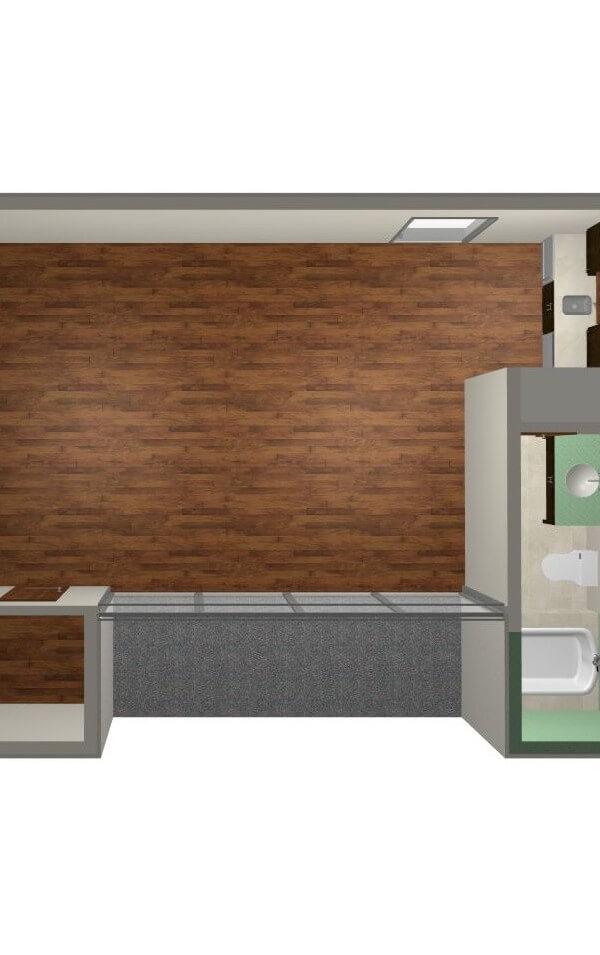 Modern Studio Guest House FloorPlan | 61custom