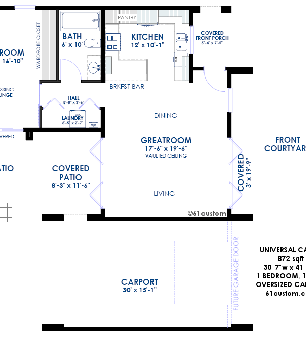 universal design: casita floorplan