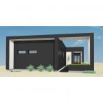 modern 2-bedroom courtyard plan