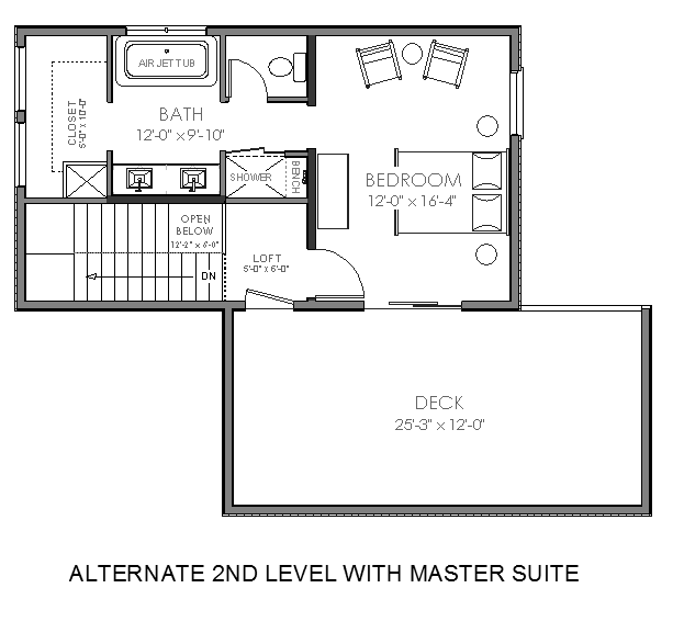 3 Bedroom Addition Floor Plan: Contemporary Small House Plan