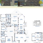 Luxury Courtyard House Plan | 61custom