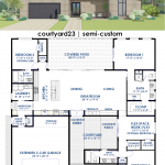 courtyard23 | contemporary houseplan