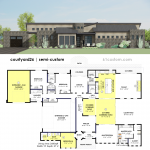 courtyard26-semi custom house plan