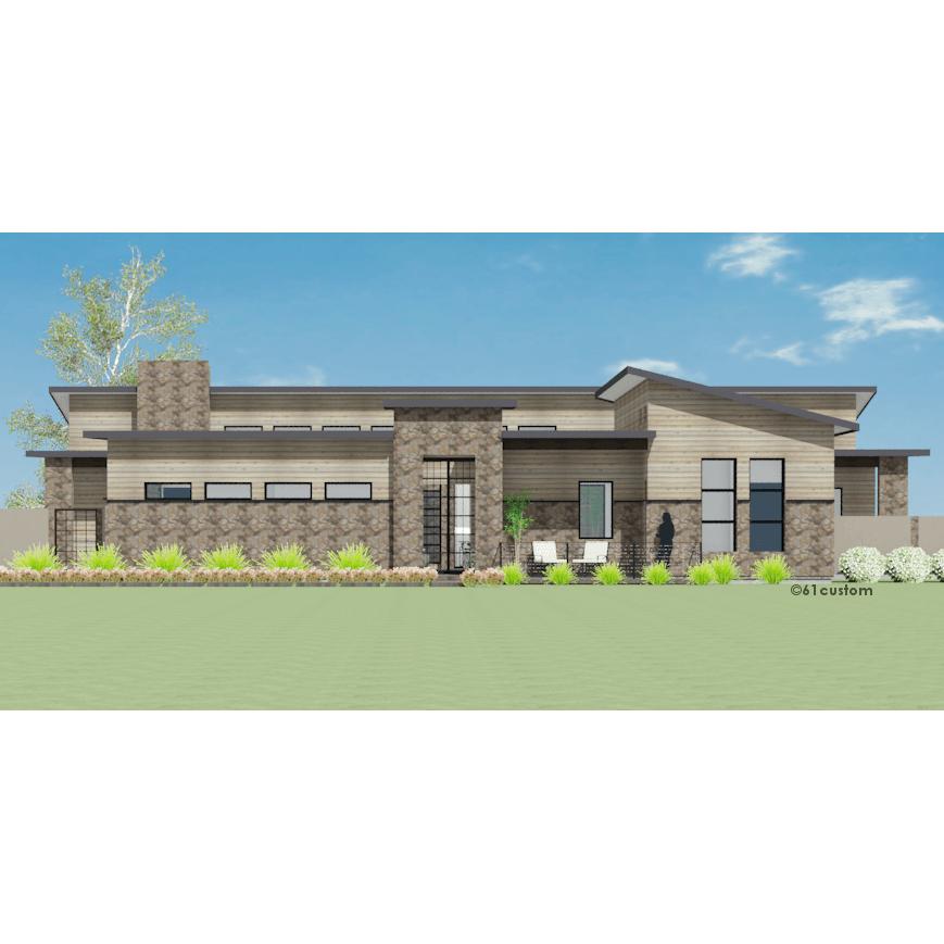 Modern Courtyard House Plan | 61custom | Contemporary ...