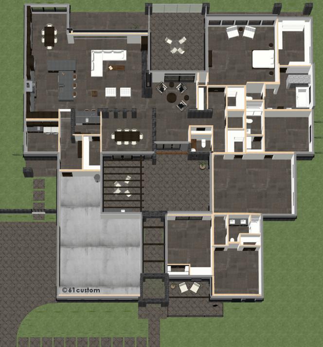 Design Homemodern House Plans: Contemporary Courtyard House Plan